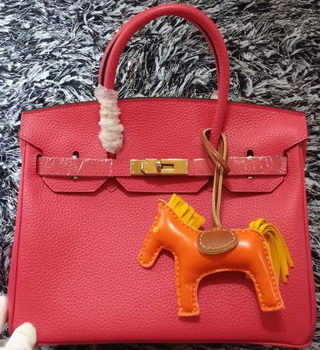 Hermes Birkin 30CM Tote Bags Litchi Leather H30LI Rose