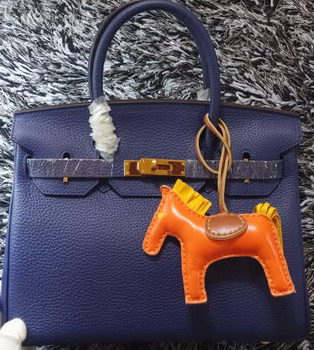 Hermes Birkin 30CM Tote Bags Litchi Leather H30LI Royal