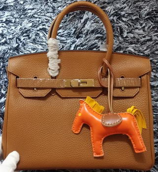 Hermes Birkin 30CM Tote Bags Litchi Leather H30LI Wheat