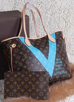 Louis Vuitton MONOGRAM V NEVERFULL MM M41602 SkyBlue