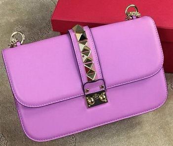 Valentino Garavani Shoulder Bag Original Leather VO1914 Lavender