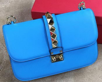 Valentino Garavani Shoulder Bag Original Leather VO1914 SkyBlue