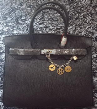 Hermes Birkin 35CM Tote Bag Litchi Leather HB35GL Black