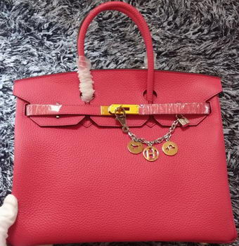 Hermes Birkin 35CM Tote Bag Litchi Leather HB35GL Rose