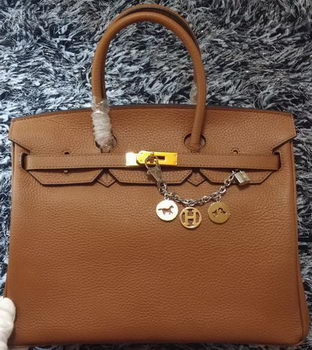 Hermes Birkin 35CM Tote Bag Litchi Leather HB35GL Wheat