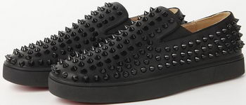 Christian Louboutin Casual Shoes Sheepskin Leather CL905 Black