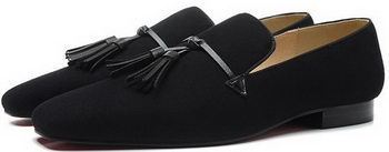 Christian Louboutin Casual Shoes Suede Leather CL899 Black