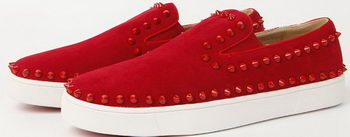 Christian Louboutin Casual Shoes Suede Leather CL907 Red