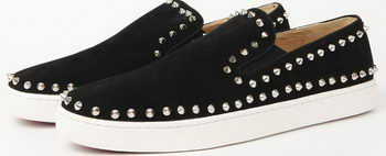 Christian Louboutin Casual Shoes Suede Leather CL910 Black