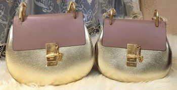 CHLOE Drew Original Leather Shoulder Bags 20828 Gold