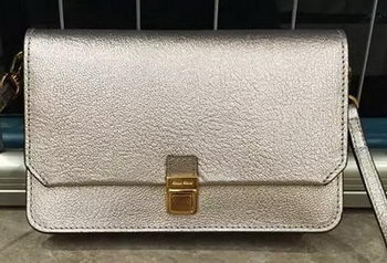 miu miu Madras Goat Leather Shoulder Bag RT0639 Gold