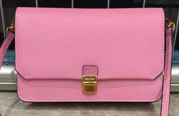 miu miu Madras Goat Leather Shoulder Bag RT0639 Pink