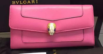BVLGARI Wallet Pochette in Calf Leather BG0122 Pink