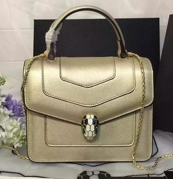 BVLGARI Serpenti Forever Bag Original Leather BG48042 Gold