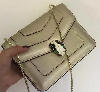 BVLGARI Small Shoulder Bag Calfskin Leather BG48043 Gold