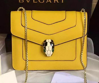 BVLGARI Small Shoulder Bag Calfskin Leather BG48043 Yellow