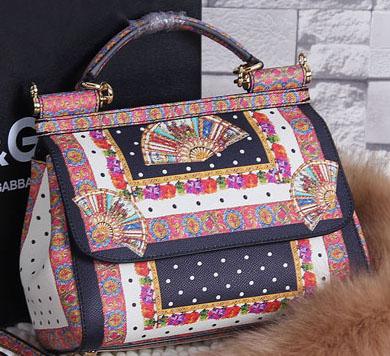 c061a1d80e Dolce   Gabbana SICILY Calfskin Circular Sector Tote Bag BB4136 Black
