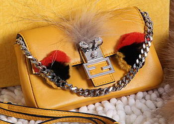 Fendi Baguette Bag Original Leather F80354 Yellow