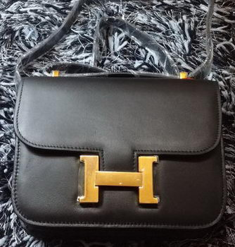 Hermes Constance Bag Smooth Leather H9998S Black