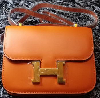 Hermes Constance Bag Smooth Leather H9998S Orange