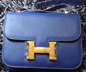 Hermes Constance Bag Smooth Leather H9998S Royal