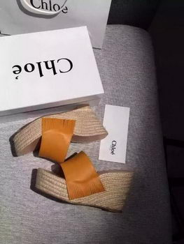 Chloe Wedges Sandals Chloe08FK Wheat