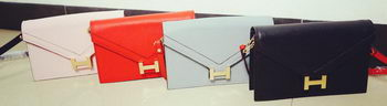 Hermes Litchi Leather Flap Shoulder Bag H201519