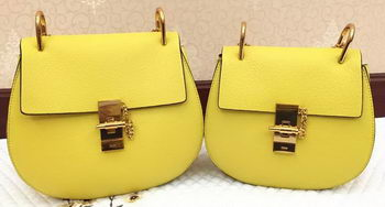 CHLOE Drew Shoulder Bags Original Leather 20828 Yellow