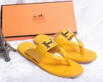 Hermes Flip-Flop Leather HO0448 Yellow