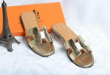 Hermes Slipper Leather HO0418 Gold