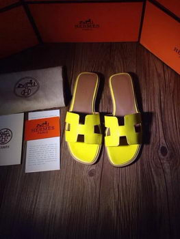 Hermes Slipper Patent Leather HO0403 Yellow