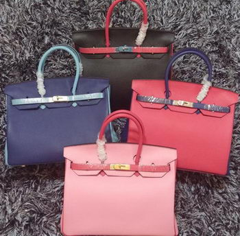 Hermes Birkin 35CM Tote Bag Litchi Leather HB35TT