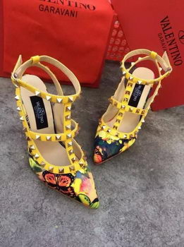 Valentino Calfskin Leather Pump VT511 Yellow