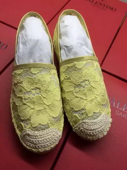 Valentino Casual Shoes Lace VT546 Yellow