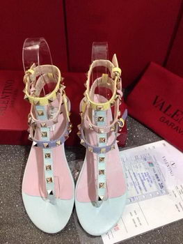 Valentino Sandals Leather VT424 Pink&SkyBlue