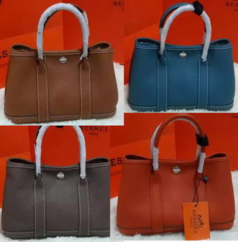 Hermes Garden Party 23cm Tote Bags Smooth Leather HGP23S