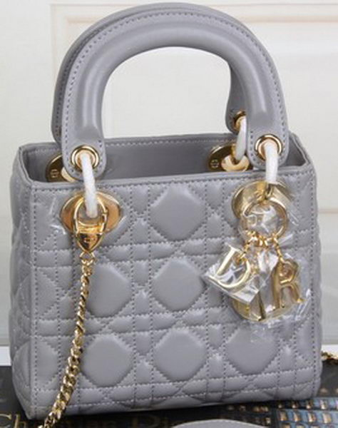 Dior mini Lady Dior Bag Original Sheeepskin Leather CD99001 Grey ... 35dfd651749b4