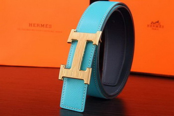 Hermes Belt H3075G Light Blue