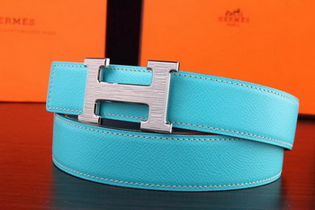 Hermes Belt H3075S Light Blue