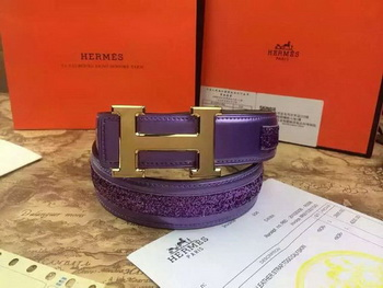 Hermes Belt H3396G Purple
