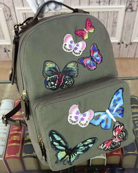Valentino Camu Butterfly Large Backpack Canvas VT13303 Green