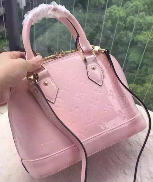 Louis Vuitton Monogram Vernis ALMA BB M96169 Pink