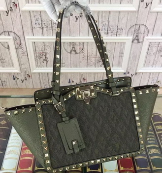 Valentino Garavani Rockstud mini Bag Jaquard Fabric VT1916 Green
