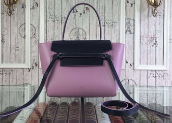 Celine Small Belt Bag Original Leather CLA98311S Black&Lavender