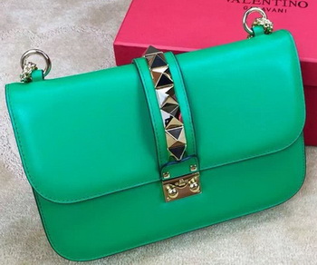 Valentino Garavani Chain Shoulder Bag Calfskin JW2B0398VIT Green