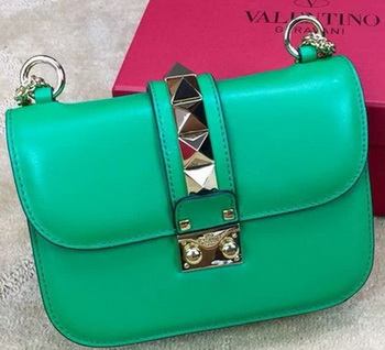 Valentino Garavani Small Chain Shoulder Bag Calfskin JW2B0312VIT Green