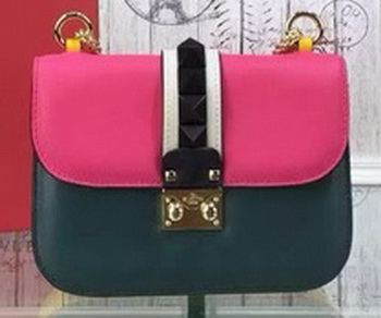 Valentino Garavani Small Chain Shoulder Bag Calfskin JW2B0312VSJ Rose&Green