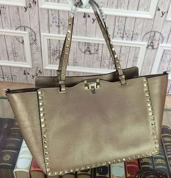 Valentino Garavani Rockstud Tote Bag Original Leather VG1917 Gold