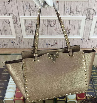 Valentino Garavani Rockstud mini Tote Bag Original Leather VG1916 Gold