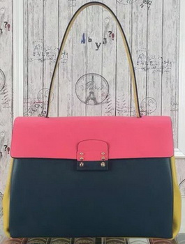 Valentino Garavani Single Handle Bag VT19615 Green&Pink